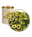 Olive Verdi Rondelle in Latta